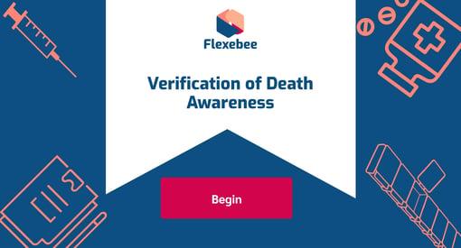 Verification of Death Course Page
